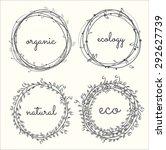 labels  leaves plants elements... | Shutterstock .eps vector #292627739
