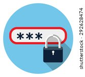 password protected icon | Shutterstock .eps vector #292628474