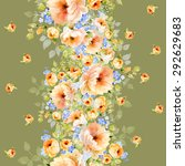seamless pattern and watercolor ... | Shutterstock . vector #292629683
