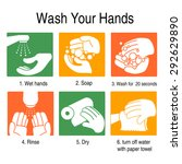 how to wash your hands to avoid ... | Shutterstock .eps vector #292629890