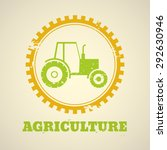 agricultural vector emblem with ... | Shutterstock .eps vector #292630946
