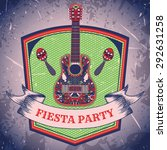 Mexican Fiesta Party Label Wit...