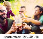 diverse people friends hanging... | Shutterstock . vector #292635248