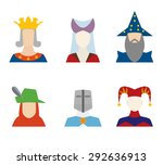 people of middle ages icons... | Shutterstock .eps vector #292636913