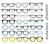 vector set of different glasses ... | Shutterstock .eps vector #292642949