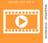 video icon. flat design style.