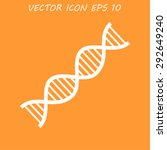 dna icon. flat  | Shutterstock . vector #292649240