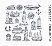 Engraved Nautical Elements. Se...