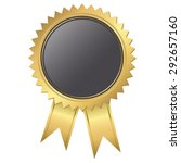 golden seal of quality template ... | Shutterstock .eps vector #292657160