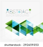 abstract geometric background.... | Shutterstock . vector #292659353