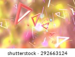 abstract image with geometrical ... | Shutterstock . vector #292663124