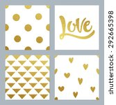 Gold Glitter Patterns Set With...