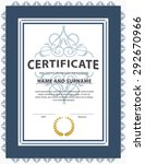 vertical certificate template... | Shutterstock .eps vector #292670966