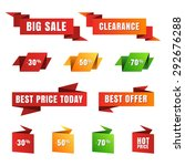 set of vector paper sale tags ... | Shutterstock .eps vector #292676288
