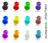 collection of shiny colorful... | Shutterstock .eps vector #292677893