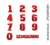 number design | Shutterstock .eps vector #292685084