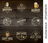 beer badges logos and labels... | Shutterstock .eps vector #292685654