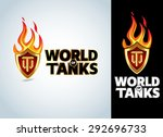 world of tanks game  military t ... | Shutterstock .eps vector #292696733