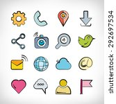 technology icons set | Shutterstock .eps vector #292697534