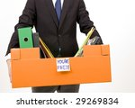 Manager fired - stock photo