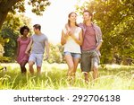 two couples walking together in ... | Shutterstock . vector #292706138