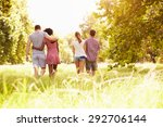 two couples walking together in ... | Shutterstock . vector #292706144