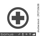 medical cross icon | Shutterstock .eps vector #292710638