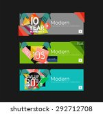 set of banners with stickers ... | Shutterstock .eps vector #292712708