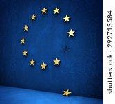 leave the euro  golden star... | Shutterstock . vector #292713584