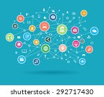 the concept of business... | Shutterstock .eps vector #292717430