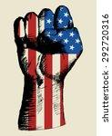 sketch illustration of a fist... | Shutterstock .eps vector #292720316