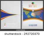annual report cover design | Shutterstock .eps vector #292720370