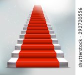 realistic stone ladder with red ... | Shutterstock .eps vector #292720556