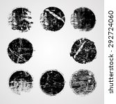 set of grunge rubber texture... | Shutterstock .eps vector #292724060