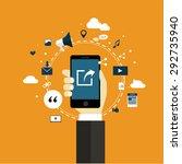 sharing internet of things... | Shutterstock .eps vector #292735940