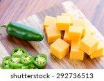 fresh sliced jalapeno peppers... | Shutterstock . vector #292736513