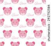 seamless background with bear.... | Shutterstock .eps vector #292752584