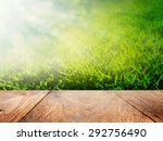 bokeh background and wood floor | Shutterstock . vector #292756490
