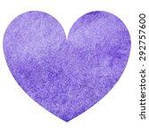 watercolor violet heart love... | Shutterstock . vector #292757600