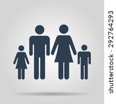 family icon. flat design style  | Shutterstock . vector #292764293