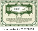 certificate horizontal floral... | Shutterstock .eps vector #292780754