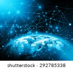 best internet concept of global ... | Shutterstock . vector #292785338