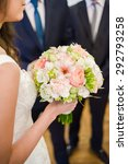 big wedding bouquet  | Shutterstock . vector #292793258