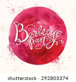 barbecue party logo | Shutterstock .eps vector #292803374