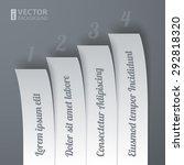 infographics 4 options paper... | Shutterstock .eps vector #292818320