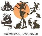 happy halloween symbols  withes ...