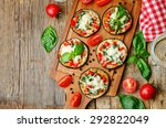 pizza eggplant with tomatoes... | Shutterstock . vector #292822049