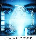 modern health interface with... | Shutterstock . vector #292832258