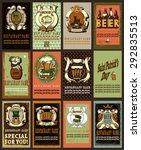 beer labels design set for... | Shutterstock .eps vector #292835513