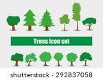 trees icons set illustration | Shutterstock . vector #292837058